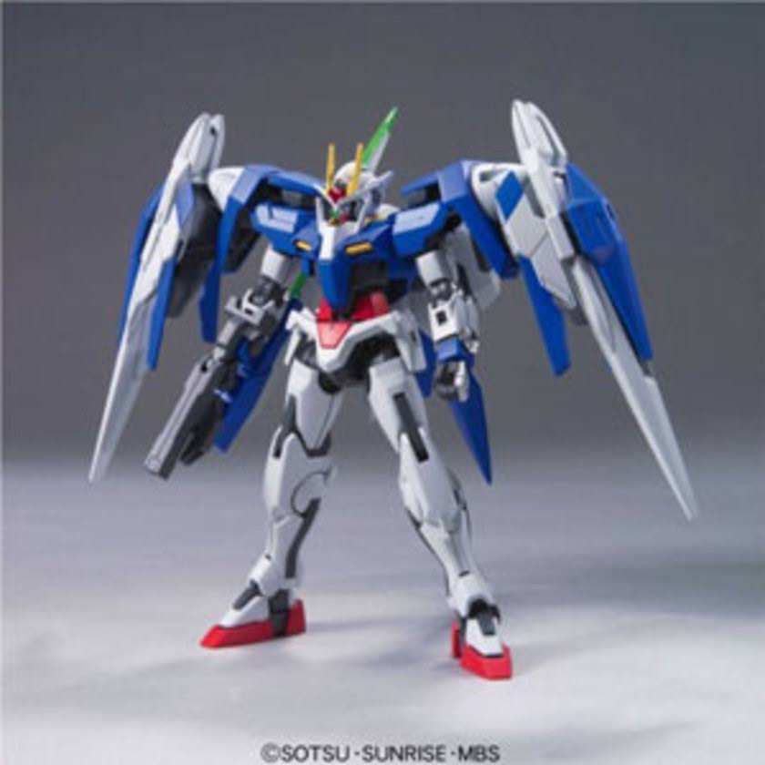 Gundam HG 00 #54 GN-0000+GNR-010 00 Raiser Gundam and GN Sword III Model Kit - 1/144 scale