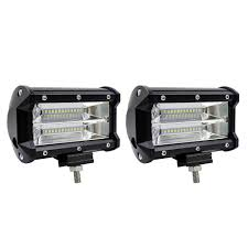 2Pcs 5inch 72W LED Light Bar Spot Beam Work Light Driving Fog Light ... 4 Inch 54w Led Flood Beam Car Offroad Truck Work Light Dc 1030v 55 X 34 Mirror Size 24w 1500lm Headlight Led Work Light Atv 4inch 18w Cree Led Spot Bar Pods Lights 4wd New Bucket Boys Electrical Contractors Llc Commander 750 And 1200 Series Federal Signal 4x 4inch 18w Cree Spot Driving Fog Lamp Safego 2pcs Bar Offorad Suv Boat 4x4 4wd 6 Rectangular 2150 Lumens Elite Lot Two Mini 27w 9 Worklights