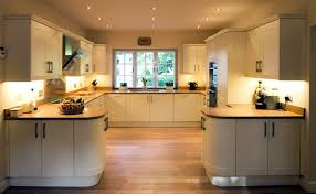 Gorgeous Inspiration Kitchen C View Of Shaped With Window On Far Back Wall And