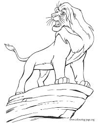 Simba Become King Coloring Page