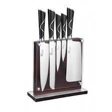 coutellerie cuisine bloc en bois de 5 couteaux de cuisine luxe