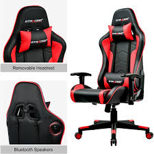 GTRACING Gaming Chair With Bluetooth Speakers Music Video Game Chair PU  Leather Amazoncom Pnic Time Nhl Arizona Coyotes Portable China Metal Chair Folding Cujmh Ultralight Camping Compact Lweight Bpacking Beach Chairs With Carry Bag For Outdoor Camp Pnic Hiking Travel Best Gaming Computer Top 26 Handpicked Hercules Colorburst Series Twisted Citron Triple Braced Double Hinged Seating Acoustics Fniture Storage How To Reupholster A Ding Seat Pictures Wikihow Better Homes And Gardens Bankston Set Of 2 2019 Fniture Solutions For Your Business By Payless Gtracing Bluetooth Speakers Music Video Game Pu Leather 25 Heavy Duty Tropitone