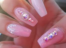19 Pink Acrylic Nails Designs Finished Pink Acrylic Nails Designs