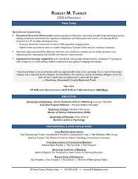 Award Winning CEO Sample Resume
