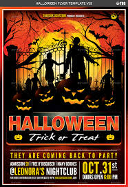 Free Halloween Flyer Templates by Halloween Flyer Template V19 By Lou606 Graphicriver