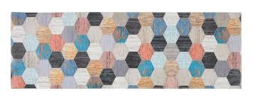 küchenläufer teppich läufer bunt 50 x 150 cm holz multi küche küchenteppich flur modern