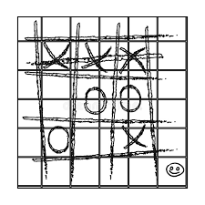 Download Tic Tac Toe Icon In Outline Style Isolated On White Background Board