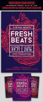Fresh Beats Flyer Poster Event DesignEvent