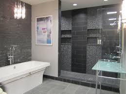 impressive gray slate bathroom tile in inspirational home