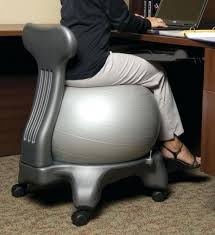 stability ball chairs helping to prevent slumping and keeps the