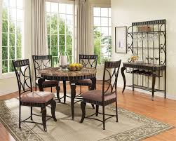 Modena Brown Marble Top Round Table And 4 Chairs