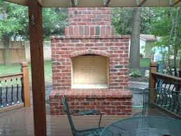 Brick Fireplace in Outdoor Brick Fireplace Ideas Home designings