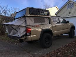 2016 tacoma with a r e ez up topper with integrated tent rv s