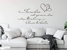 grazdesign deko wohnzimmer modern unsere familie ist spruch