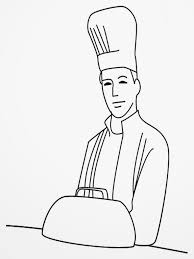 Chef Coloring Page Pages Realistic