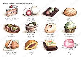 Watercolor Foods Collection Sample by eikomakimachi