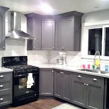 Cabinet For Kitchen Appliances Cabinets Cool Gray Rectangle Modern Wooden Stained