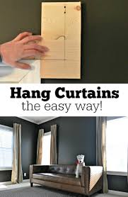 No Drill Curtain Rods Uk by How To Hang Curtains The Easy Way Hang Curtains Window And