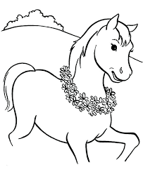 Horse Head Coloring Page Realistic Pictures To Color Amazing