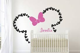 Minnie Mouse Bedroom Accessories Ireland by Get Personalized Wall Art With Minnie Mouse