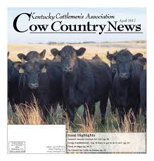 Cow Country News April 2017 by The Kentucky Cattlemen s
