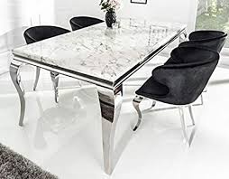 casa padrino designer esszimmer set schwarz silber weiss