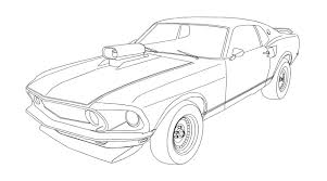 Mustang Coloring Pages Muscle Car