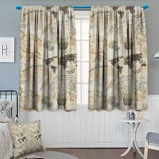 Clara Clark 5Piece Window Curtain Set Includes 84Inch By 42Inch