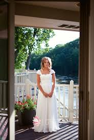 Cap Sleeve Lace And Chiffon Custom A Line Rustic Bridal Dress