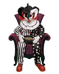 Animatronic Halloween Props Uk by 4 5 Ft Sitting Scare Clown Animatronics Decorations Ebay