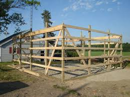 24 x 30 pole barn garage construction materials by Menards