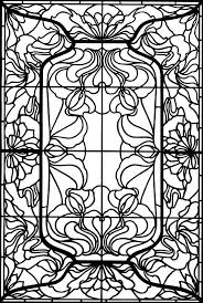 Art Nouveau Windows Stained Glass Coloring Book Dover Publications