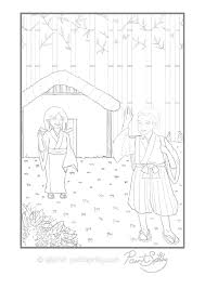Elderly Japanese Couple Adult Coloring Page