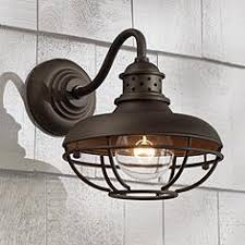 Franklin Park Metal Cage 9 High Bronze Outdoor Wall Light
