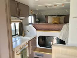 Trailer Kitchen Remodel Truck Camper Before And After Insta Sara Cabin