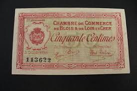 chambre du commerce blois ancien billet 50 centimes blois spl ebay