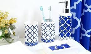 Royal Blue Bathroom Wall Decor by Royal Blue Bathroom Sets Wall Decor Lattice Bath Set Piece
