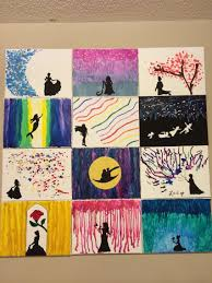 My Disney Melted Crayon Canvases