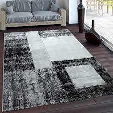teppich geometrische muster vintage stil kurzflor grau