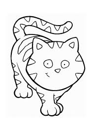 Cartoon Cat Coloring Pages 394