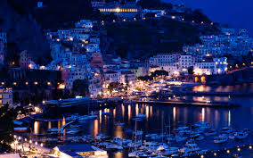 100 Houses In Sorrento Wallpaper Italy Positano Pier Night Yachts
