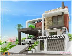 Decorative Single House Plans by Modern Luxury House With Cellar Floor Indian Plans Right Side