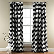 Sweet Jojo Chevron Curtains by Amazon Com Black And White Chevron Window Treatment Zig Zag