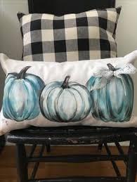 Pumpkin Patch Near Nolensville Tn by Cottonstem Com Farmhouse Blue Pumpkin Pillow Fall Decor Pillow