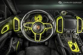 Porsche Cayenne S Custom Dark Black Interior Concept fierce sporty