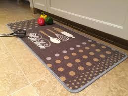 tapis de cuisine finesse 50x120cm kitchen beige brun