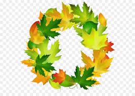 Leaf Border Oval Clip art Fall Leaves Oval Border Frame PNG Clipart Image