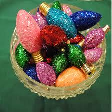 glittered light bulbs thrift bulbs and craft