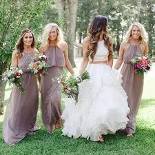 show me your mumu dune chiffon bridesmaid dresses rustic