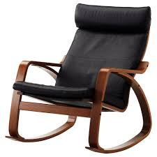 100 Unique Wooden Rocking Chair PONG Chair Medium Brown Glose Robust Black